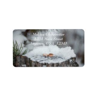 Labels--Winter Wedding Address Label