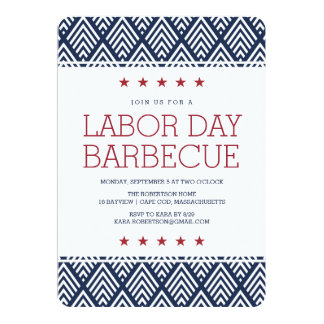 Labor Day Barbecue Party Invitation