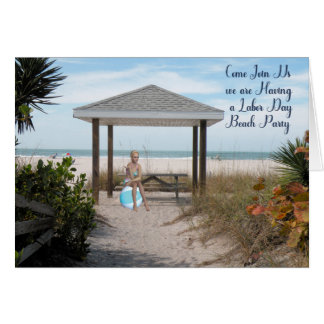 Labor Day Beach Party Invitation