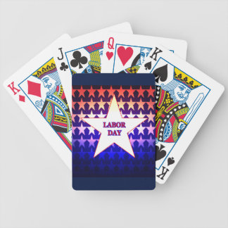 Labor Day Bicycle Playing Cards