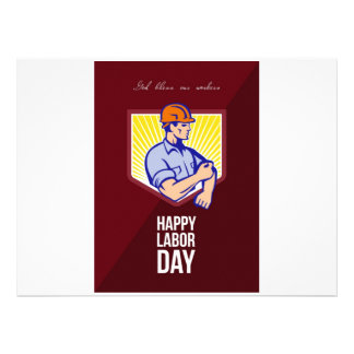 Labor Day Celebration Greeting Card Poster Announcements