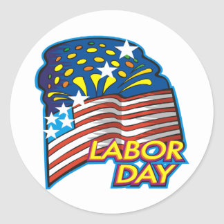 Labor Day Classic Round Sticker