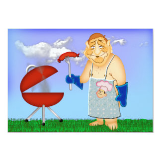 Labor Day Cook-Out 13 Cm X 18 Cm Invitation Card