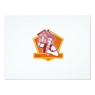 Labor Day Greeting Card Builder Hammer House Shiel 17 Cm X 22 Cm Invitation Card