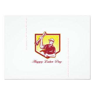 Labor Day Greeting Card Builder Plan Hammer 17 Cm X 22 Cm Invitation Card