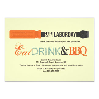 Labor Day Screwdriver Invitation