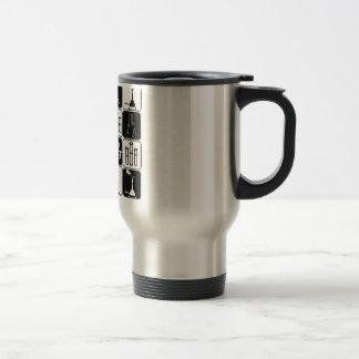 LABORATORY SCIENTIST SYMBOLS AND TOOLS COFFEE MUGS
