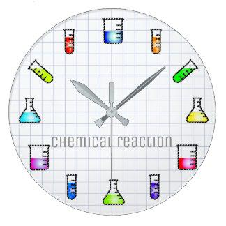 Laboratory Test Tubes Chemistry Lab Work Science Wallclocks