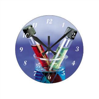 Laboratory Test Tubes Clock