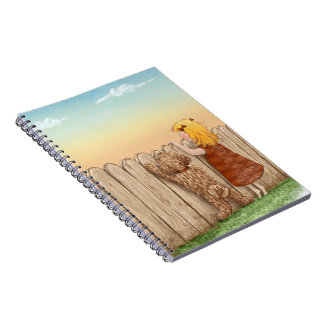 Labradoodle and Girl Spiral Notebook