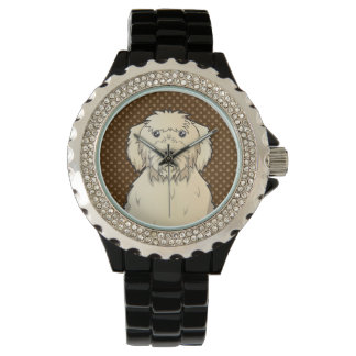 Labradoodle Dog Cartoon Paws Watch