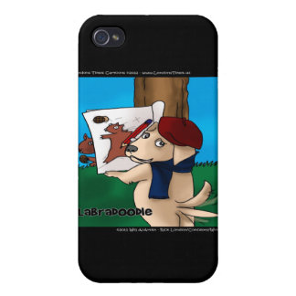 Labradoodle Funny Gifts Mugs Cards Etc iPhone 4 Cover
