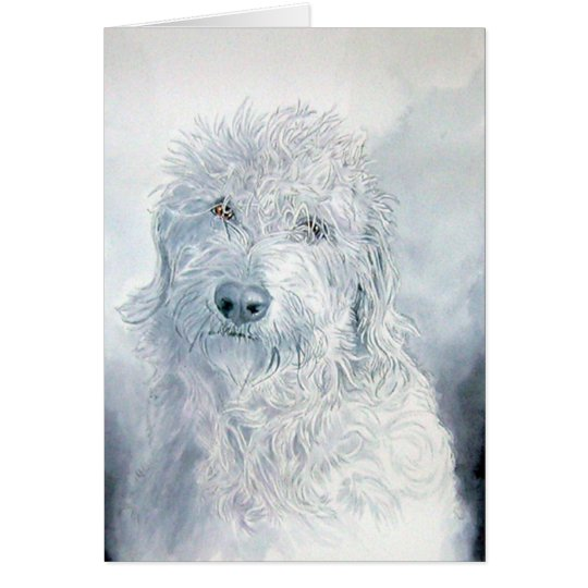 Labradoodle Ginger Greeting Card