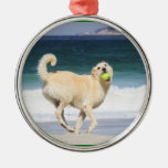 Labradoodle Happy Day on the Beach Christmas Tree Ornament