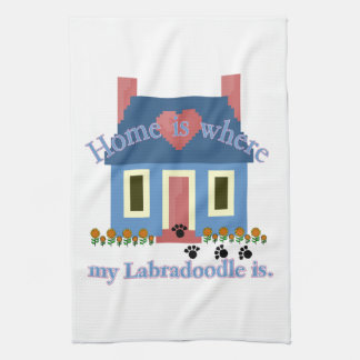 Labradoodle Home Is Kitchen Towel