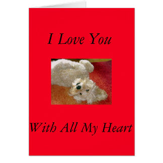 Labradoodle I Love You Card