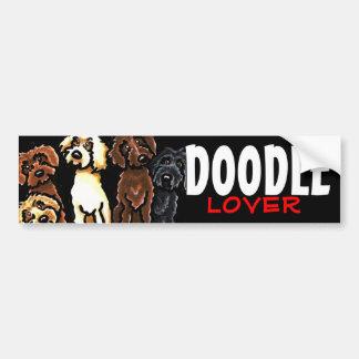 Labradoodle Rainbow Doodle Lover Bumper Sticker