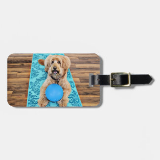 Labradoodle - Riley - Yoga Dog Luggage Tag