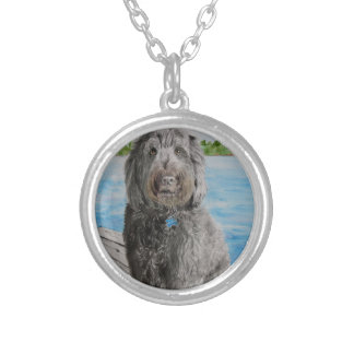 Labradoodle Stewart Silver Plated Necklace