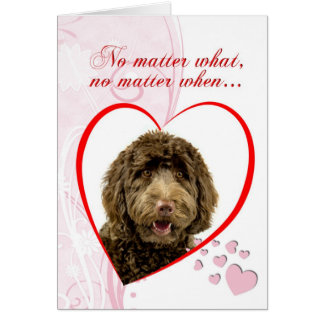 Labradoodle Valentine s Day Card
