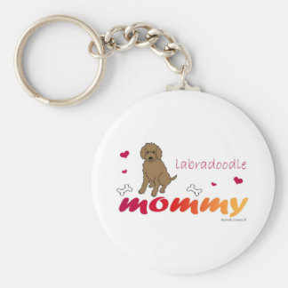 LabradoodleChoco Key Ring