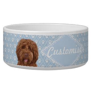 ©LabraDoodleFriends Dog Blue Labradoodle Bowl