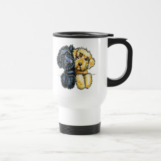 Labradoodles Black Yellow Lined Up Travel Mug