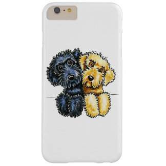 Labradoodles Black Yellow Lined Up White Barely There iPhone 6 Plus Case