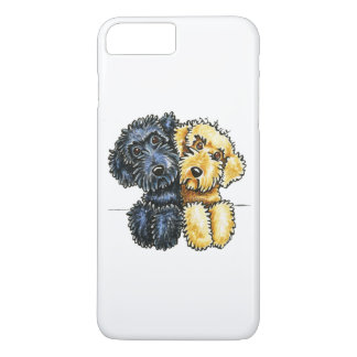 Labradoodles Black Yellow Lined Up White iPhone 7 Plus Case