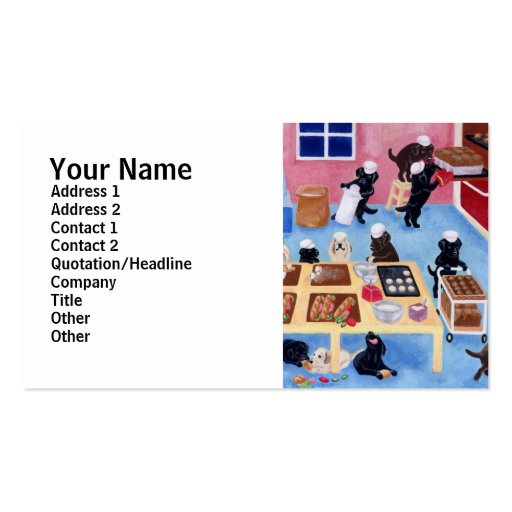 Labrador Bakery Business Card Templates