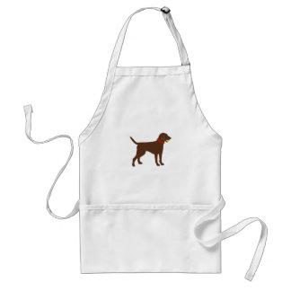 labrador ball fetch, chocolate lab play standard apron