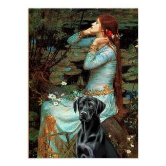 Labrador (black 1) - Ophelia Poster