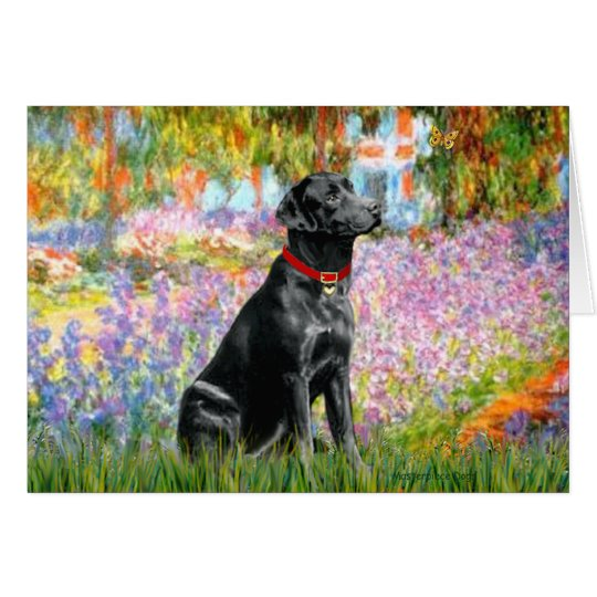 Labrador (Black) - Garden Card