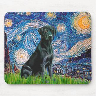 Labrador (black) - Starry Night Mouse Pad