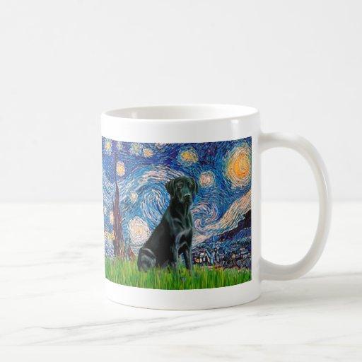 Labrador (black) - Starry Night Mugs