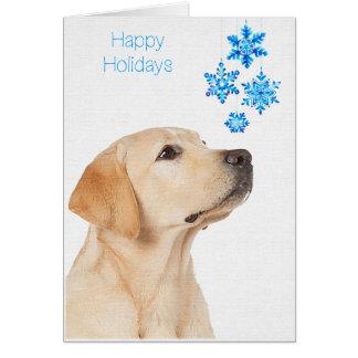 Labrador Christmas Card Yellow Labrador