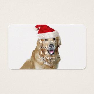 Labrador christmas-santa claus dog-santa dog-pet business card