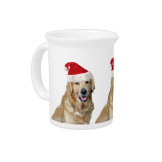 Labrador christmas-santa claus dog-santa dog-pet pitcher
