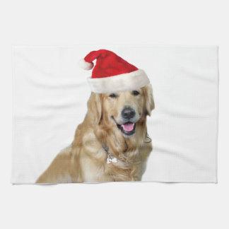 Labrador christmas-santa claus dog-santa dog-pet tea towel