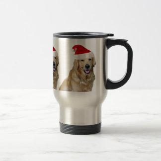 Labrador christmas-santa claus dog-santa dog-pet travel mug