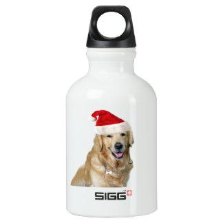 Labrador christmas-santa claus dog-santa dog-pet water bottle