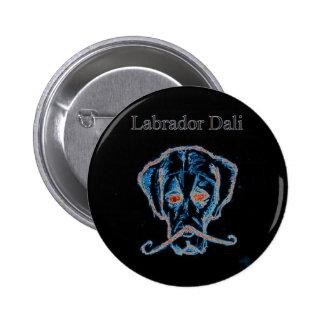 Labrador Dali black button