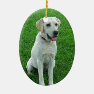 Labrador Dog Cute Lab Ceramic Ornament