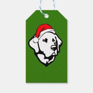 Labrador Dog with Christmas Santa Hat Gift Tags