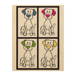 Labrador Drawing Wood Canvases