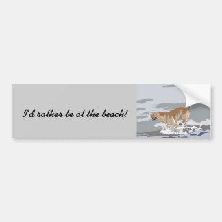 Labrador in the Ocean Bumper Sticker