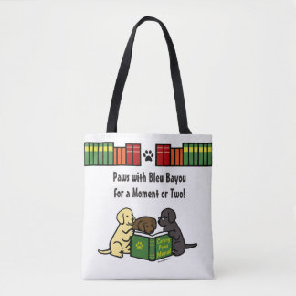 Labrador Puppies Reading Book Bag Books