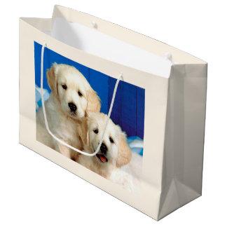 Labrador pups large gift bag