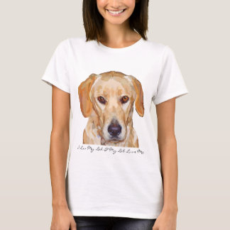 "Labrador ""Reggie"" Painting on Womens T-Shirts"