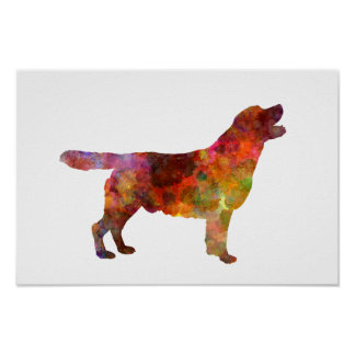 Labrador retriever 01 in watercolor 2 poster